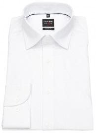 Hemd - Level 5 - Under Button Down - Blütenstruktur - weiß