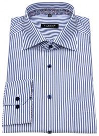 Hemd - Comfort Fit - Patch - Streifen - blau / weiß