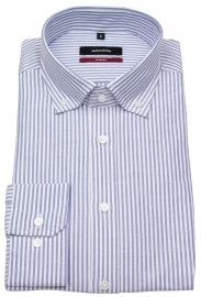 Hemd - Modern Fit - Button Down - Streifen - blau / weiß
