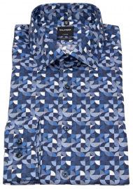 OLYMP Hemd - Luxor Modern Fit - Print - blau / weiß