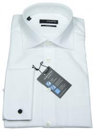 Hemd - Haikragen - Umschlagmanschette - weiß