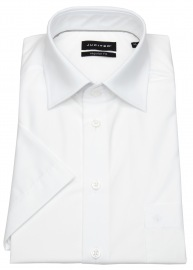 Kurzarmhemd - Regular Fit - Kentkragen - weiß