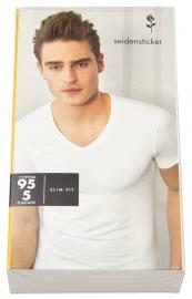 T-Shirt - Schwarze Rose - V-Ausschnitt - weiß