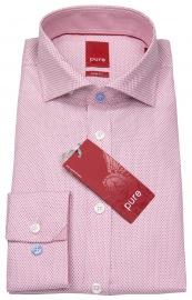 Hemd - Slim Fit - Hai - Print - rot / weiß - ohne OVP
