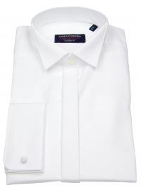 Hemd - Modern Fit - Kläppchen - Umschlagmanschette - weiß