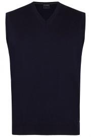 Pullunder - Merinowolle - V-Ausschnitt - dunkelblau