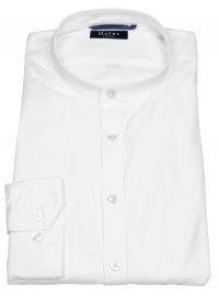Hemd - Regular Fit - Stehkragen - weiß