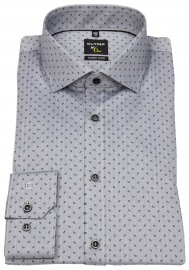 Hemd - No. Six Super Slim Fit - Print - grau / schwarz