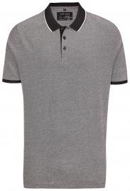 Poloshirt - Piqué - schwarz