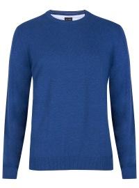Pullover - Rundhals-Ausschnitt - blau