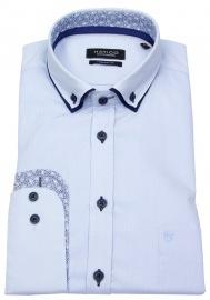 Hemd - Regular Fit - Patch - Button Down - hellblau