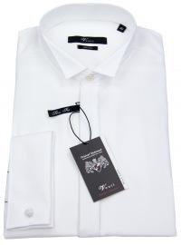 Smokinghemd - Slim Fit - Kläppchenkragen - UMA - weiß