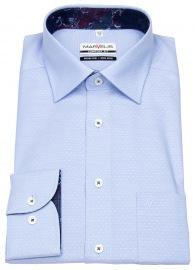Hemd - Comfort Fit - Patch - Print - hellblau / weiß