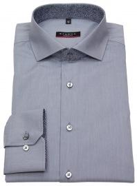 Hemd - Modern Fit - Patch - Haikragen - grau - ohne OVP