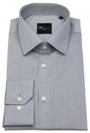 Hemd - Slim Fit - Kentkragen - grau
