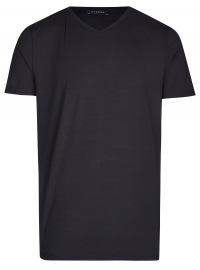 T-Shirt - V-Ausschnitt - schwarz