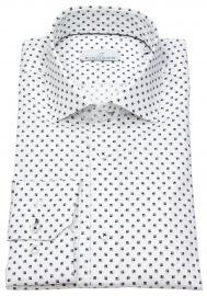 Hemd - Modern Fit - Haikragen - Print - weiß / blau