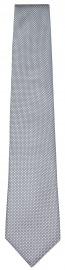 Seidenkrawatte - feines Muster - grau / hellgrau