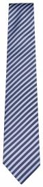 Seidenkrawatte - anthrazit / hellblau gestreift