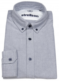 Hemd - Casual Fit - Button Down Kragen - blau
