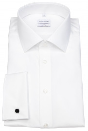 Hemd - Shaped Fit - Umschlagmanschette - weiß