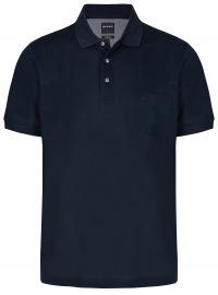 Poloshirt - Casual Fit - Piqué - dunkelblau
