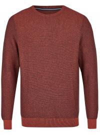Pullover - Rundhals-Ausschnitt - mit Kaschmir - rotorange