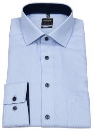 Hemd - Luxor Modern Fit - Faux Uni - hellblau / weiß