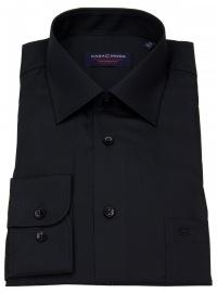 Hemd - Comfort Fit - schwarz - extra langer Arm 69cm