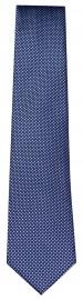 Seidenkrawatte - feines Muster - dunkelblau / blau