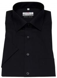 Kurzarmhemd - Comfort Fit - schwarz