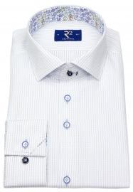 Hemd - Modern Fit - Haifischkragen - weiß / blau