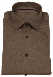Hemd - Modern Fit - 24 / Seven - All Time Shirt - braun