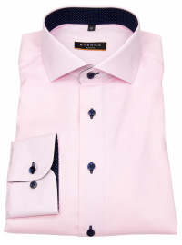 Hemd - Slim Fit - Oxford - Kontrastnähte - rosé