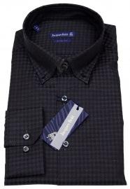 Hemd - Slim Fit - Button Down - Muster - schwarz - ohne OVP