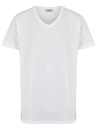 T-Shirt Doppelpack - V-Neck - weiß