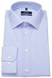 Hemd - Shaped Fit - feine Streifen - hellblau / weiß