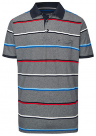 Poloshirt - Casual Fit - Streifen - dunkelblau
