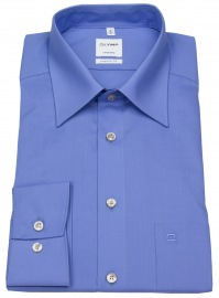 Hemd - Tendenz Regular Fit - Kentkragen - blau