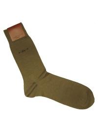 Socken aus Schurwolle / Seide / Bw - beige