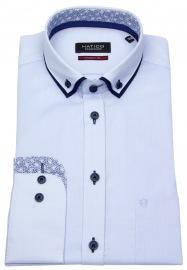 Hemd - Modern Fit - Patch - Button Down - hellblau