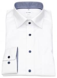 Hemd - Luxor Comfort Fit - Patch - Under Button Down - weiß