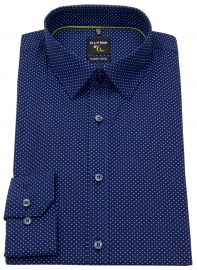 Hemd - No. Six Super Slim Fit - Print - dunkelblau / weiß