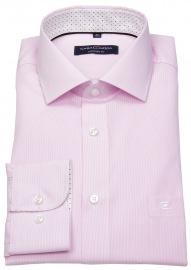 Hemd - Comfort Fit - Streifen - rosé / weiß - ohne OVP