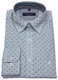 Hemd - Comfort Fit - Button Down - gestreift - blau