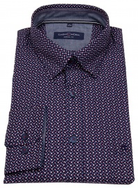 Hemd - Casual Fit - Under Button Down - Print - mehrfarbig
