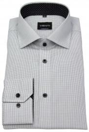 Hemd - Modern Fit - fein kariert - schwarz / weiß