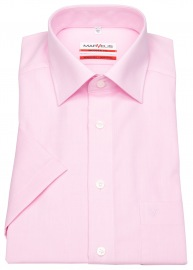 Kurzarmhemd - Modern Fit - Chambray - rosé