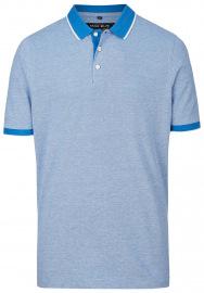 Poloshirt - Piqué - blau