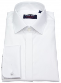 Smokinghemd - Umschlagmanschette - weiß
